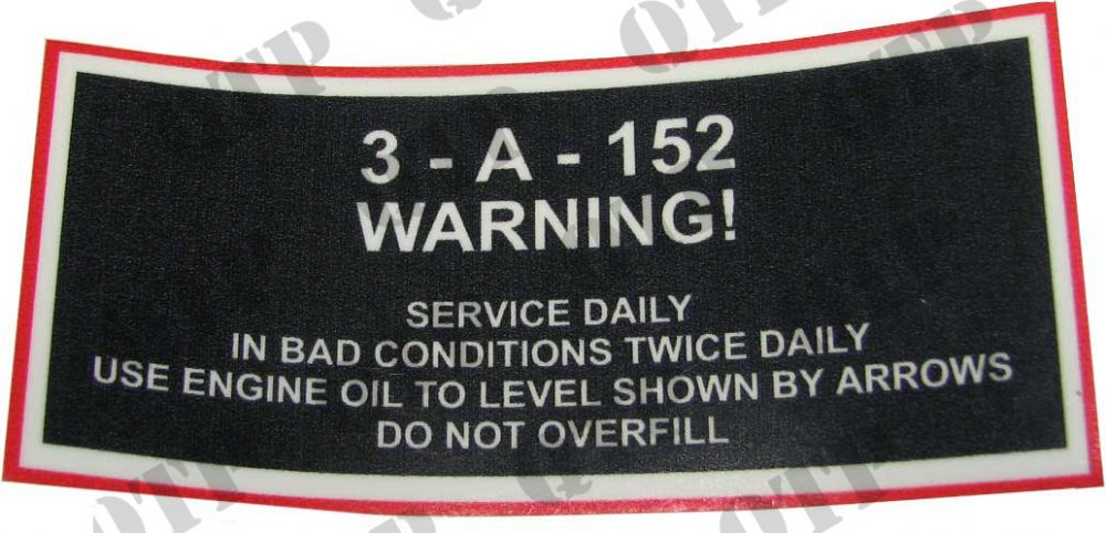 Decal 35 A152 - Service Daily